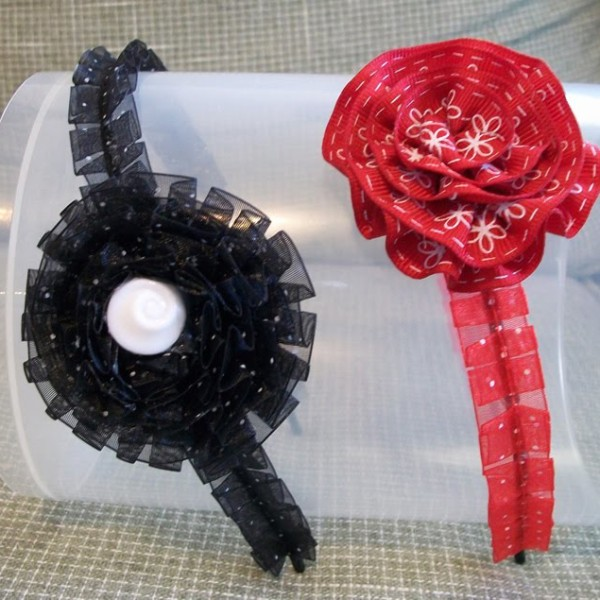 how to make a pleated ribbon rosette