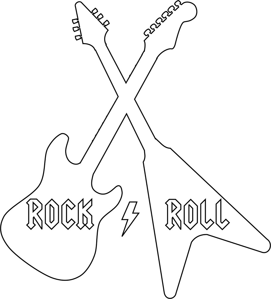 Rock roll shirt w template