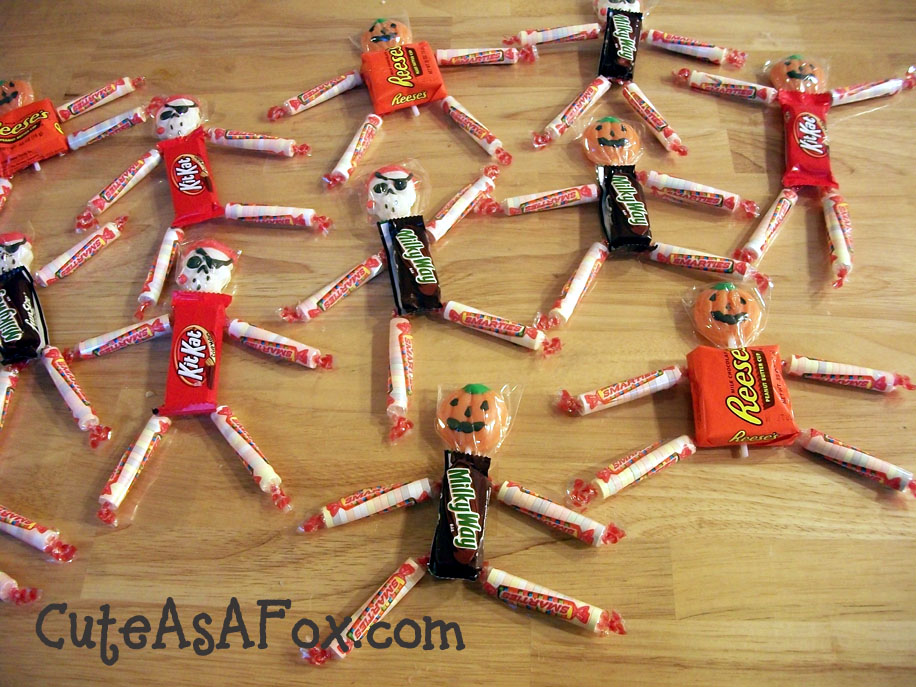 Quick Classroom Ideas ~ Quick halloween project candy people