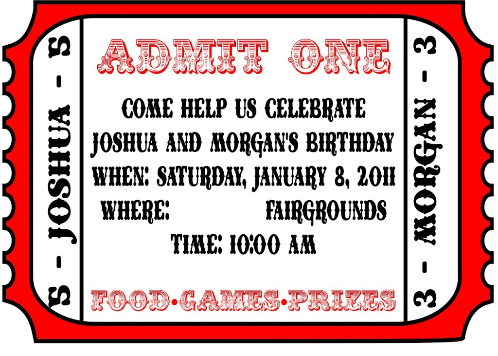 Carnival Party: Invitations