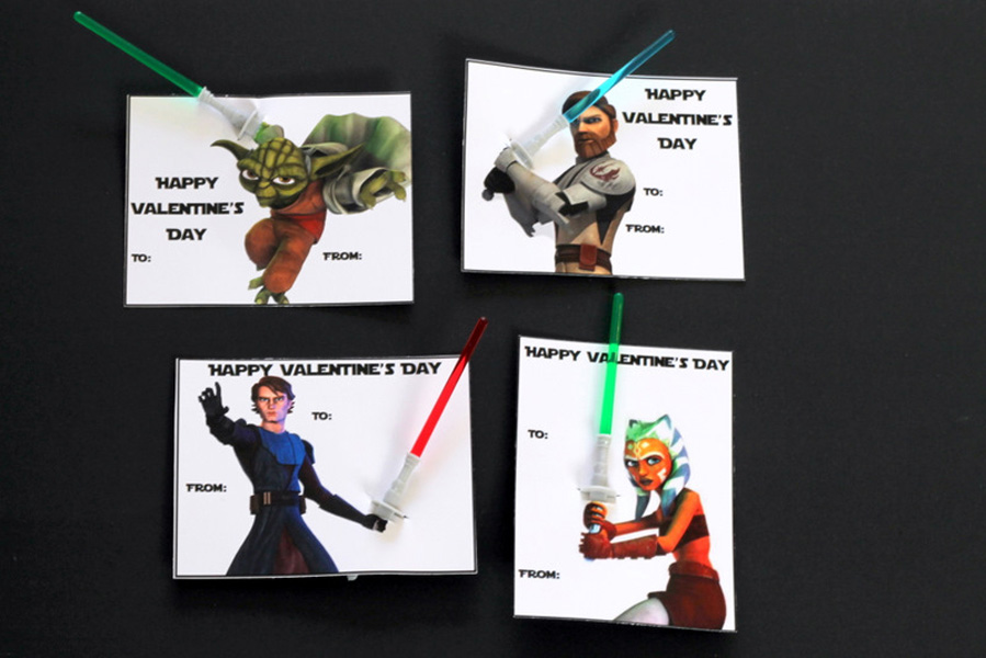 graphic relating to Printable Star Wars Valentine known as Star Wars Printable Valentines