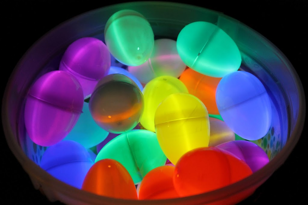 Glow in the Dark Easter eggs.