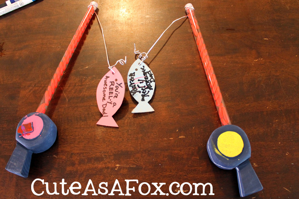 Father s day craft fishing pole treats for Fish pick up lines