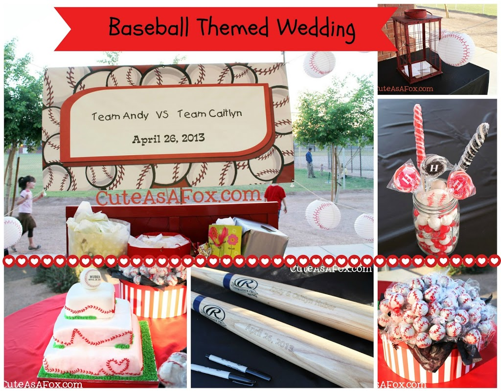 Baseball themed wedding