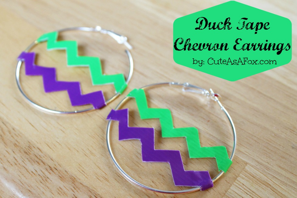 Duck Tape Chevron Earrings Accessories