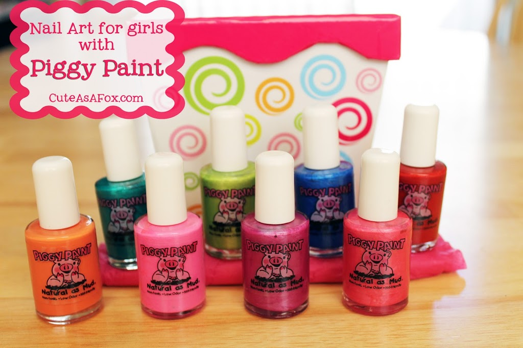 Little girl nail art with Piggy Paint Giveaway