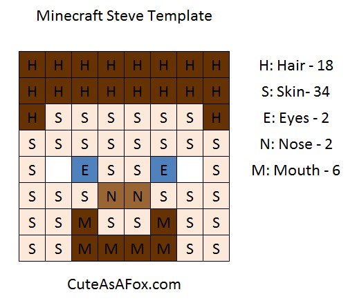 minecraft steve skin color