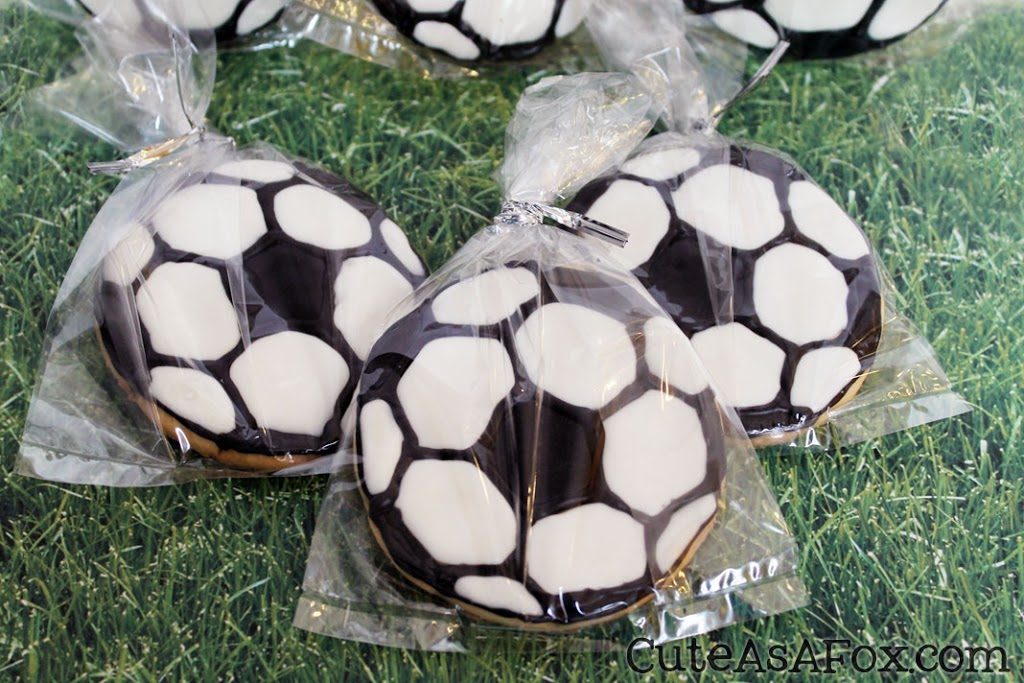Decorated Soccer Cookies