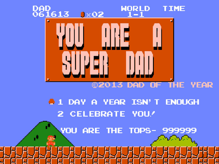 2013 Mario Father's Day Card