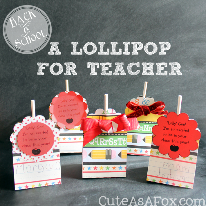 Back to School Lollipop Treat for teacher