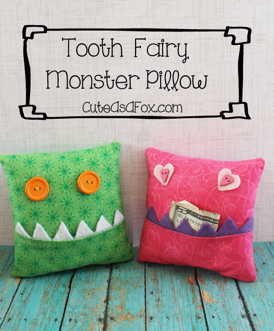She Is So Anxious For The Tooth Fairy To Visit Her And Really Wanted A Monster Pillow Of Own