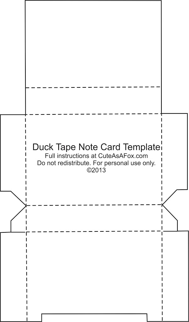 Note Cards Template | Duck Tape Flash Card Holder