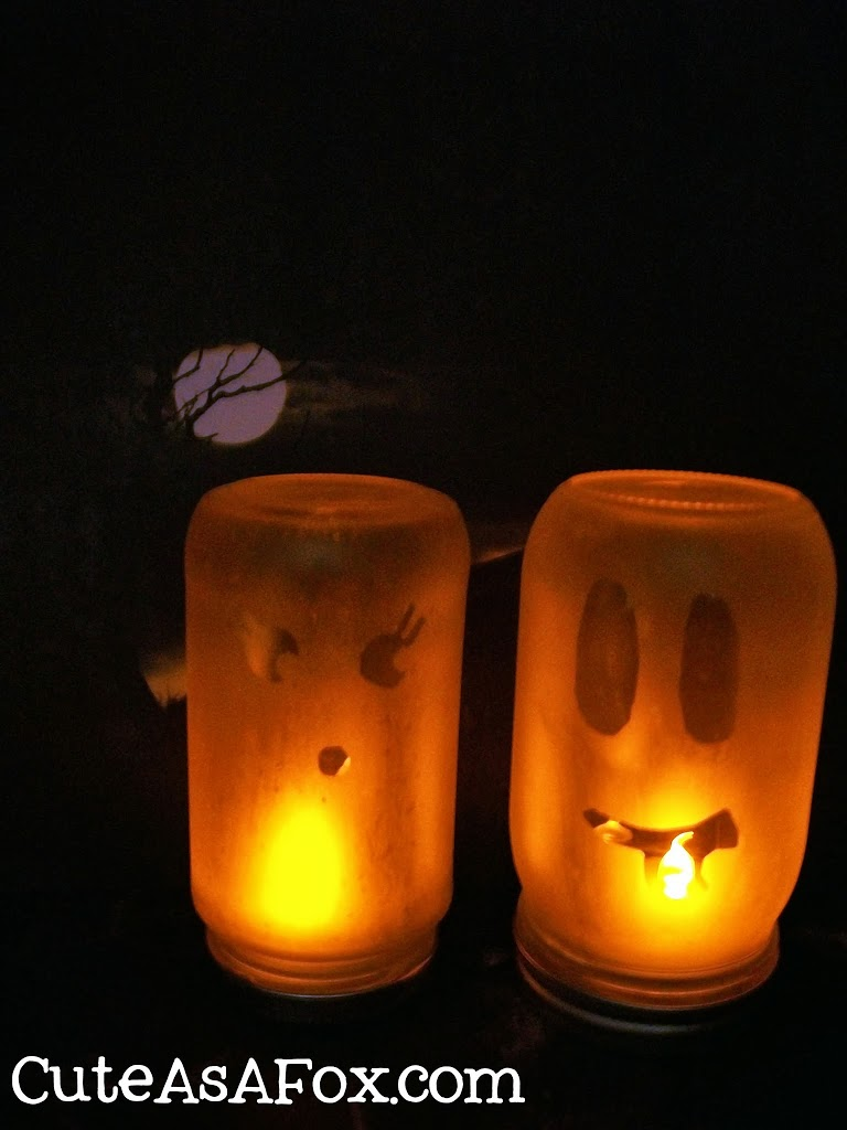 Etched Glass Ghost Luminaries + Silhouette Portrait Giveaway and Sale