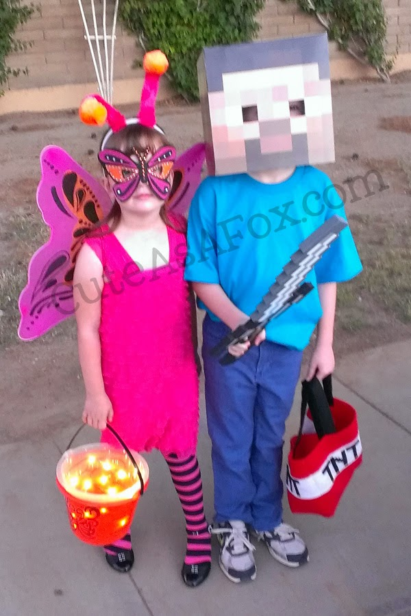 Butterfly and Minecraft Steve Costume