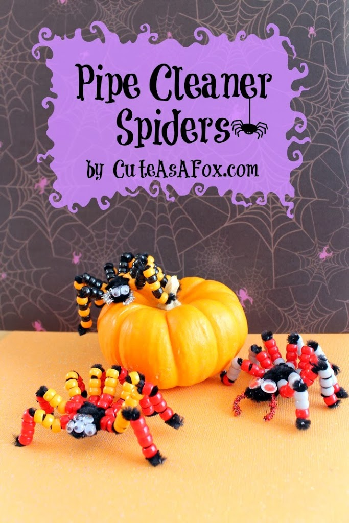 Beaded Pipe Cleaner Spiders