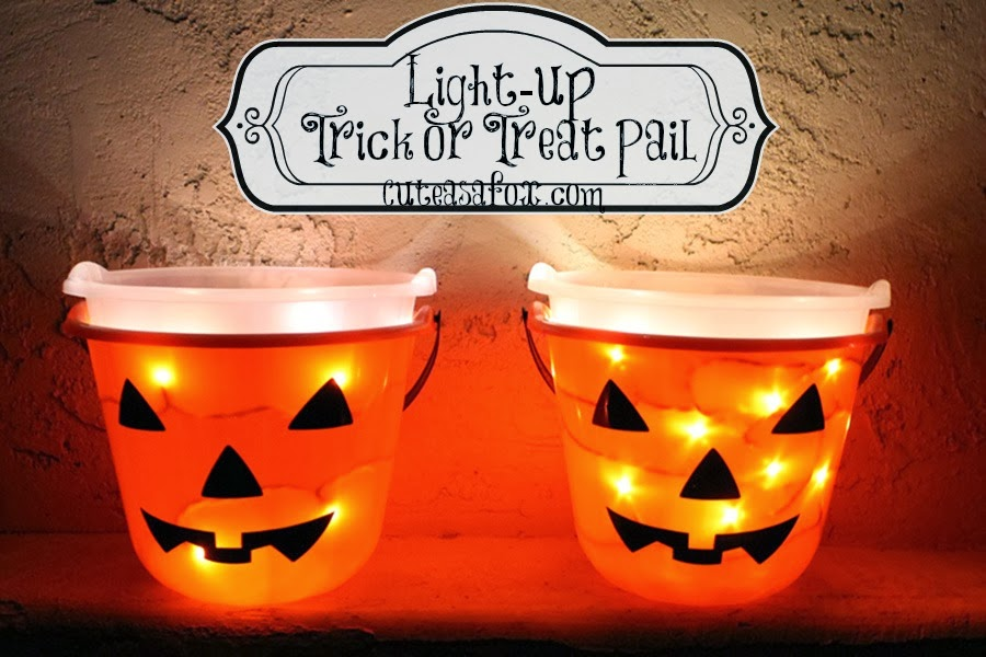 Light-up Trick or Treat Pail