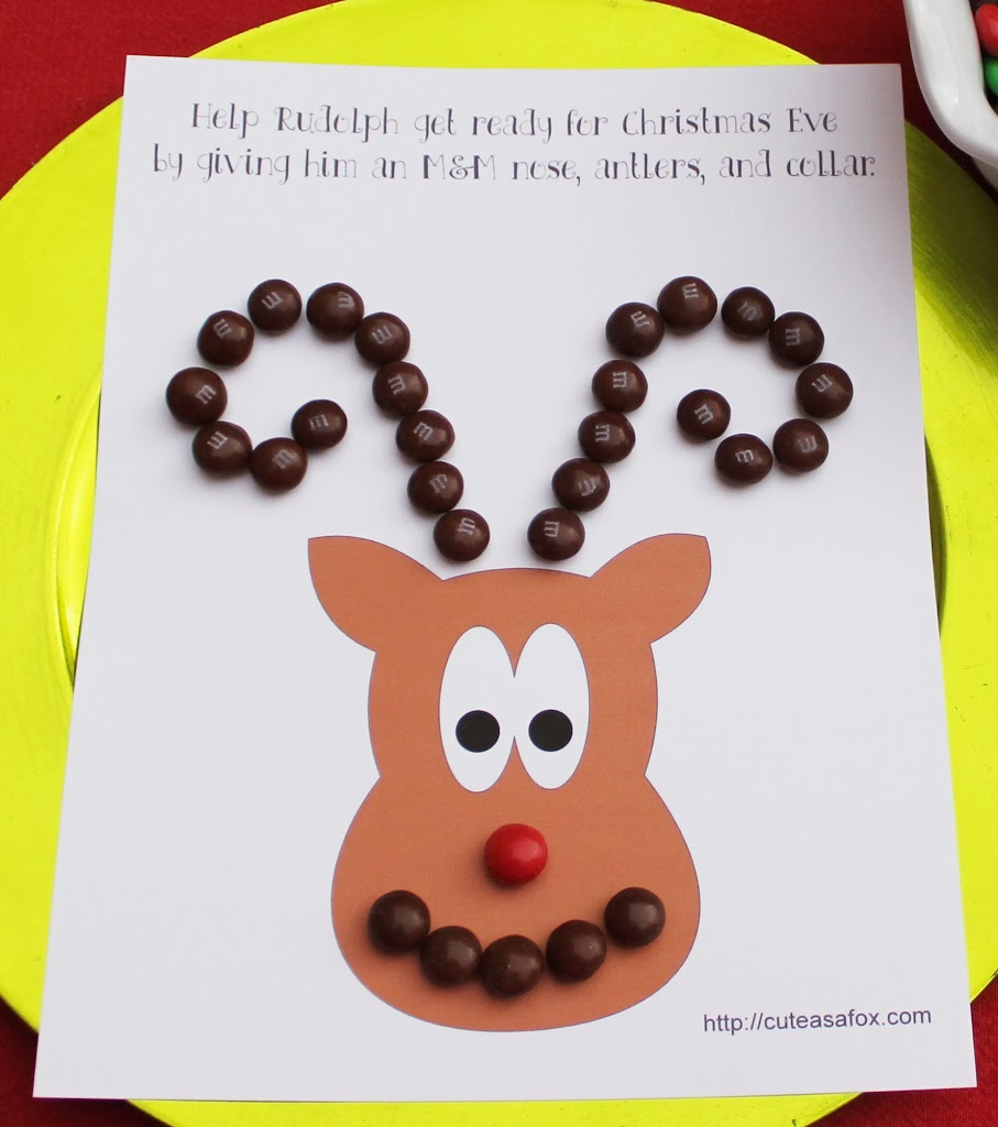 Craft a Reindeer face with Gingerbread M&Ms #HolidayMM