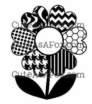 Heart Flower with Patterned Petals – free download