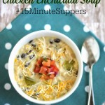 Green Chile Chicken Enchilada Soup - #15MinuteSuppers