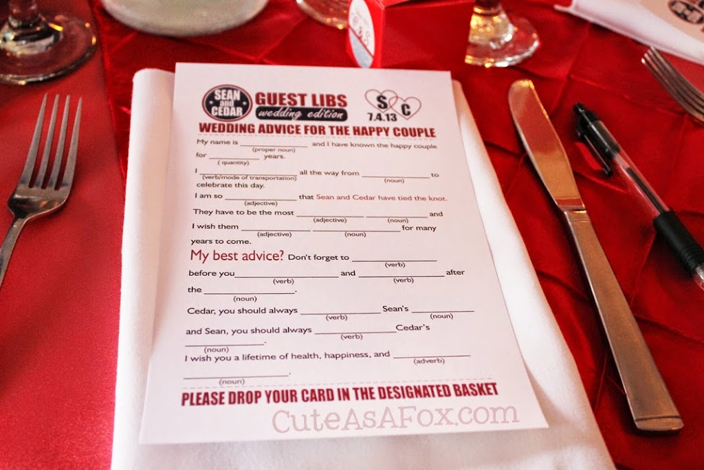 Wedding mad libs wedding activity for Guest libs wedding edition template