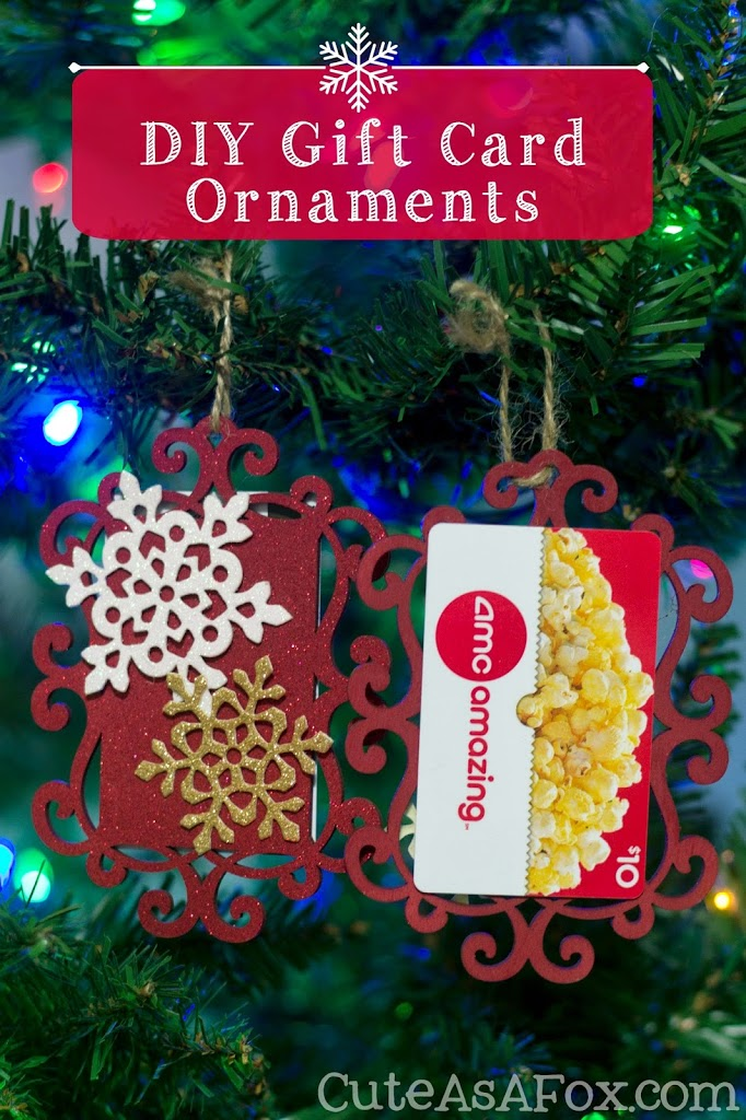 DIY Gift Card Ornaments