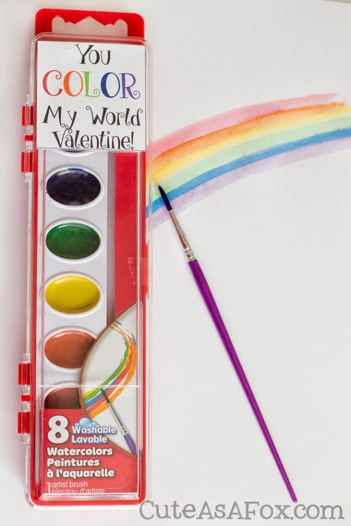 photo relating to You Color My World Printable named 5 Basic Printable Valentines for the clroom