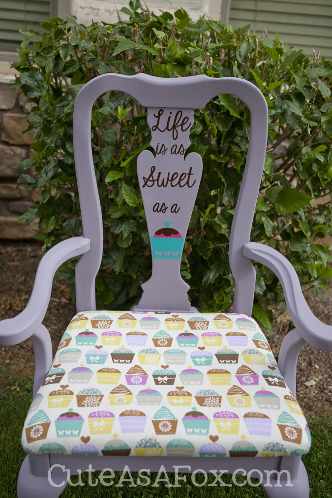 Diy Cupcake Chair Redo With Chalk Paint