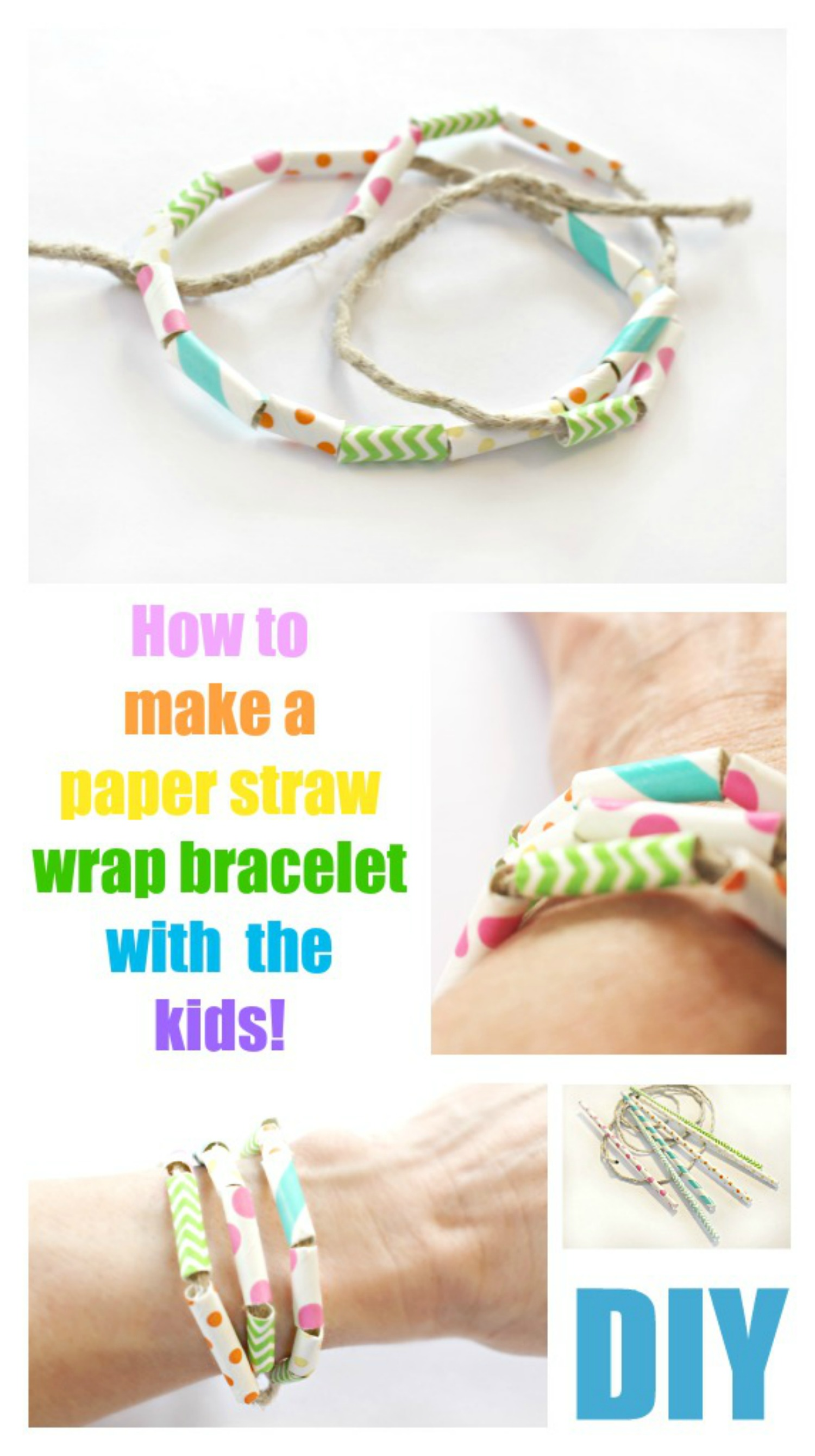 Paper Straw Wrap Bracelet – Crafts for Kids