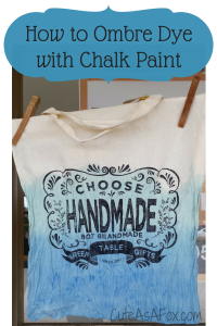 How to Ombre Dye with Chalk Paint