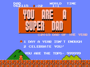 2015 Classic Mario Father's Day Card