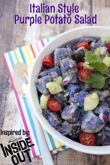 Inside Out Progressive Dinner - Purple Italian Potato Salad