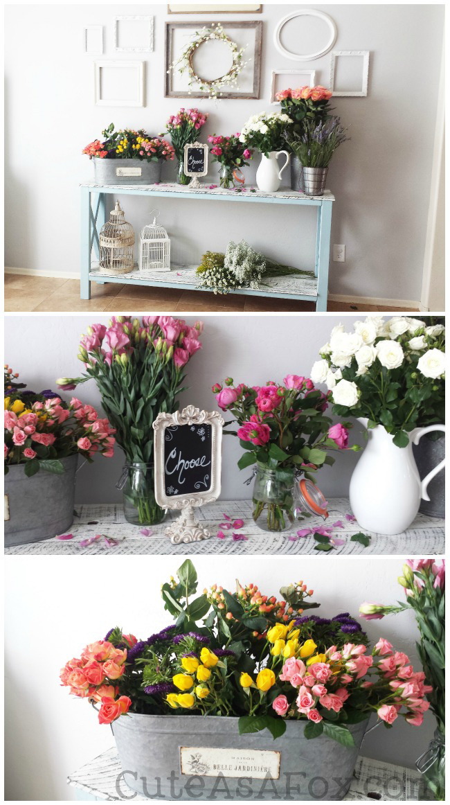 Floral Baby Shower Fresh Flower Crown Making Station