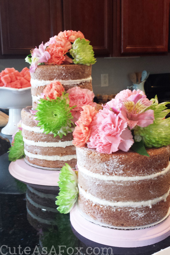 Floral Baby Shower Fresh Flower Naked Cakes Wm