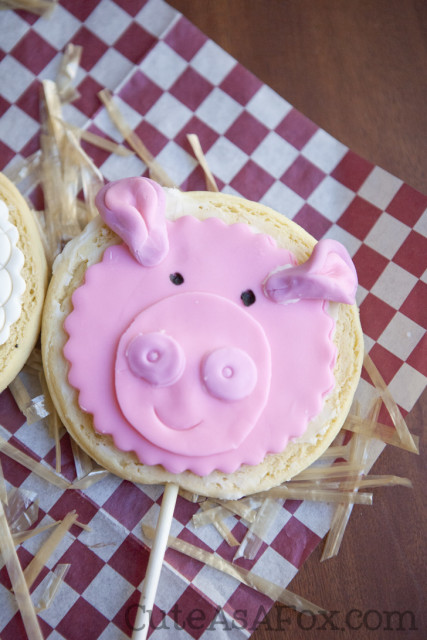 Pig Sugar Cookie on a Stick.