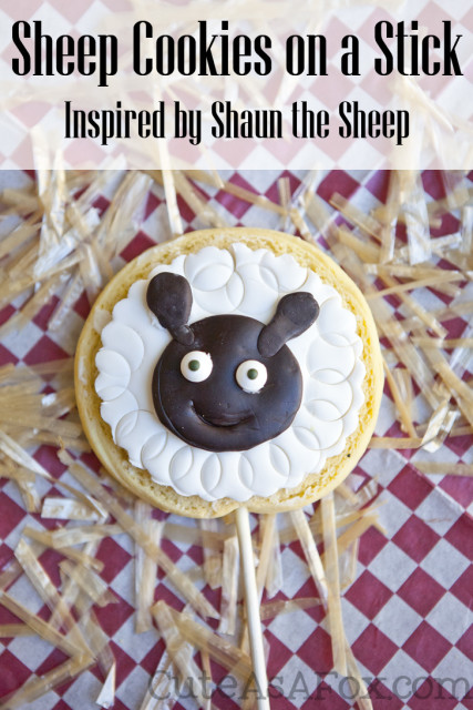 Shaun the Sheep Sugar Cookie on a Stick.