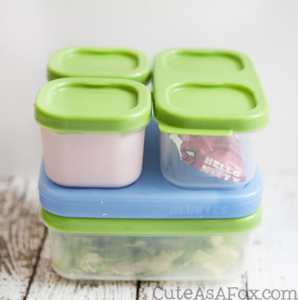 Make a Hello Kitty Bento Style lunch with Rubbermaid LunchBlox containers.