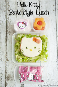 Hello Kitty Bento Lunch with Rubbermaid LunchBlox