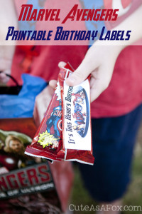 MARVEL Avenger's School Birthday Snack Printable