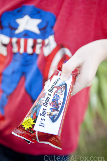 Printable MARVEL School Birthday Treats. Print some fun birthday labels to add to MARVEL Chewy Granola Bars. The perfect birthday snack to take to school. #MARVELSnackBar #CBias #AD