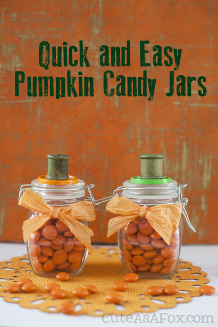 Quick & Easy Pumpkin Candy Jars