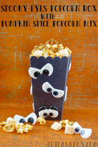 Spooky Eye Popcorn Box with Pumpkin Spice Popcorn Mix