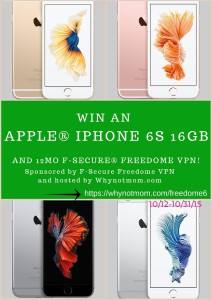 iPhone 6S giveaway from F-secure
