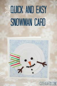Quick Snowman Christmas Card