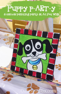 Puppy P-ART-Y: A canvas painting party