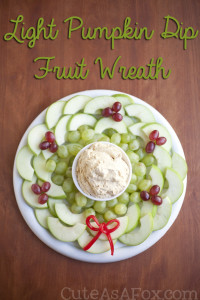 Light Pumpkin Dip in a Fresh Fruit Wreath