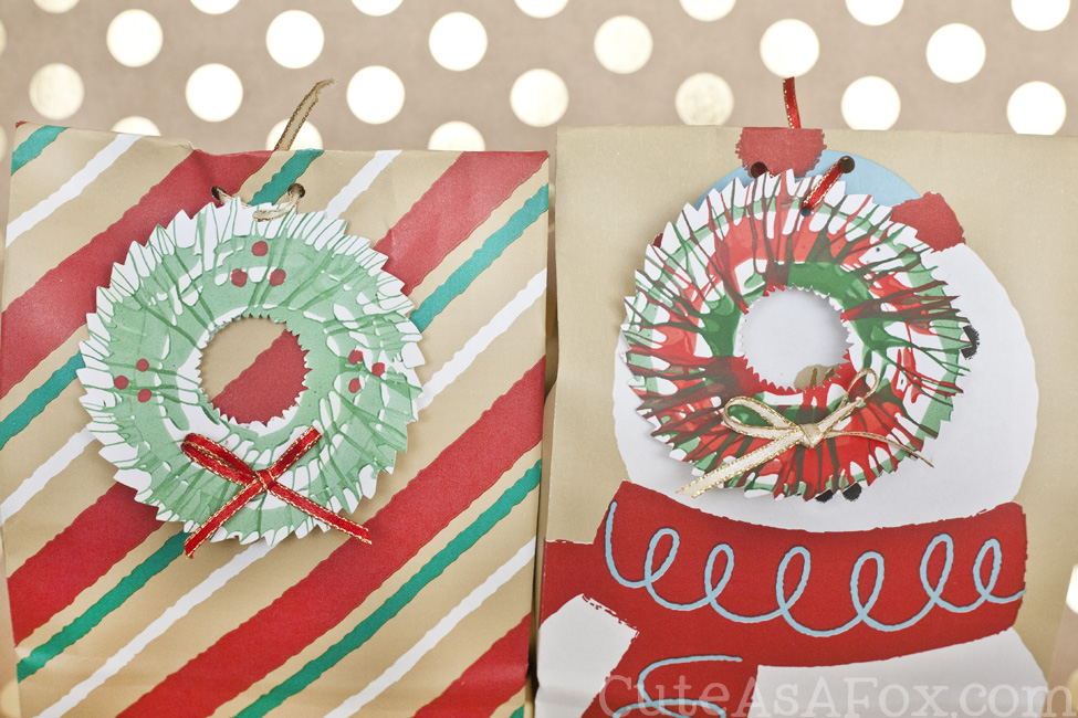 Spin Art Wreath Gift Tags. Take your child's spin art projects and turn them into memorable holiday gift tags.