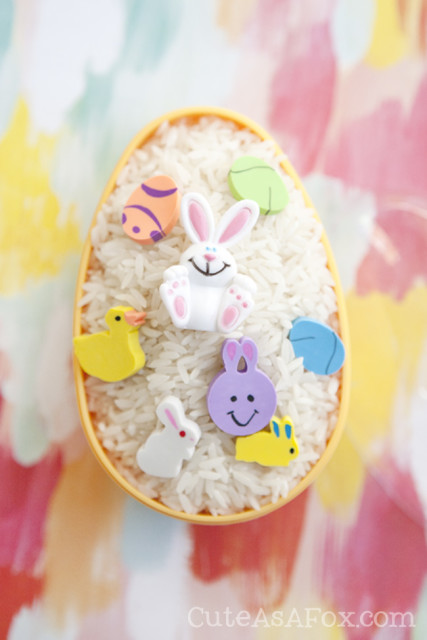Keep kids busy and engaged with a fun Easter egg Find It. It takes less than 10 minutes to make but provides hours of entertainment.