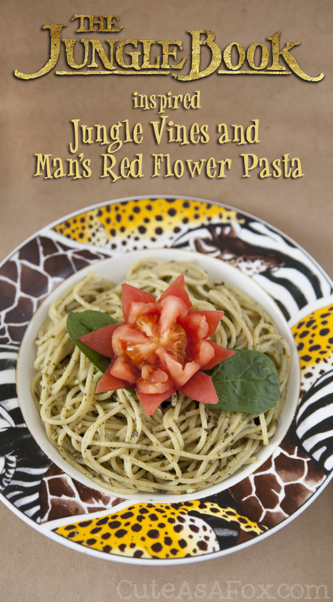 Jungle Book Inspired Jungle Vine and Man's Red Flower pasta is a fun dish that your whole family will love.