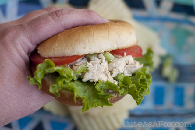 Chicken Caesar salad sandwiches. The perfect make ahead meal for feeding a crowd.
