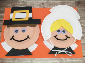 Easy Pilgrim Paper Plate Craft for kids